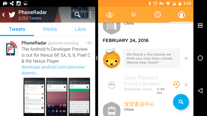 Android N Preview Build - Multi Window