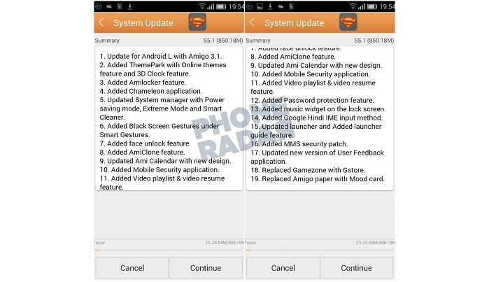 Gionee Elife S5 1 Gets Android 5 0 16 Lollipop Update in