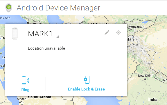 Android Device Manager - CREO MArk 1