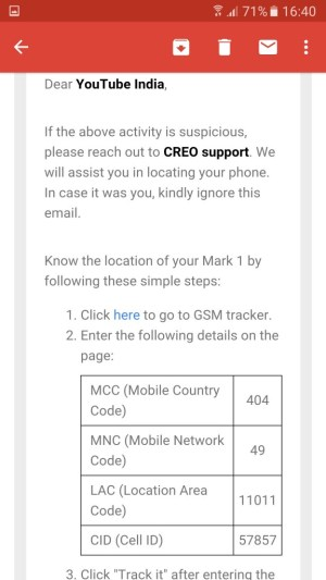 Emails from CREO - Procedure to Follow if not my SIM