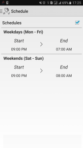 SEER App Schedule Timings