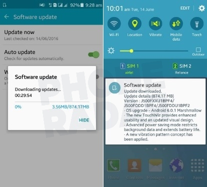 Samsung Galaxy J5 - Android Marshmallow Update