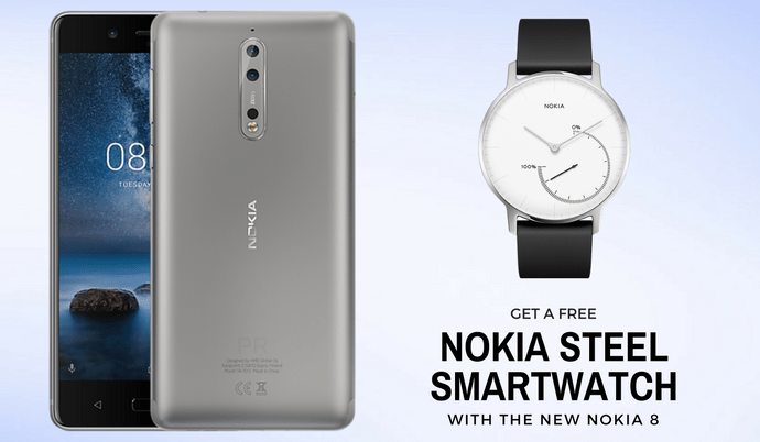 Nokia 8 United Kingdom pre-orders are now live, free smartwatch included