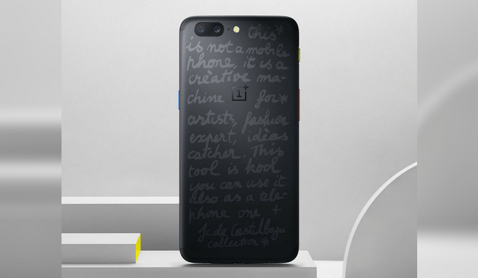 590abeceb1 New OnePlus 5 JCC Limited Edition Smartphone Looks Stunning with Colored  Buttons