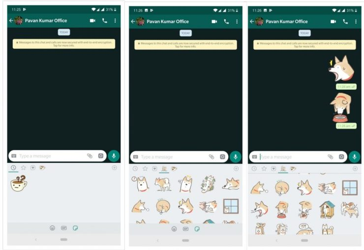 WhatsApp gets New 'Stickers' Feature and Android users get Swipe to