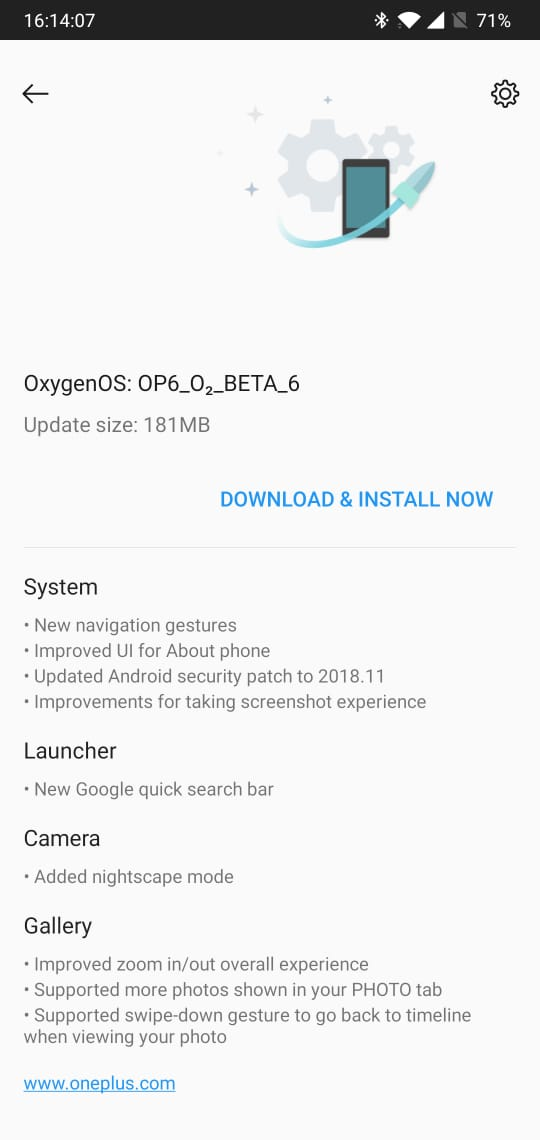 OnePlus 6 Gets Nightscape Mode with the latest OxygenOS Beta