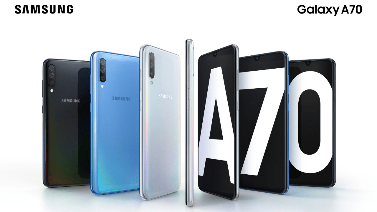 Samsung Galaxy A70 with 25 mega pixel selfie camera launched