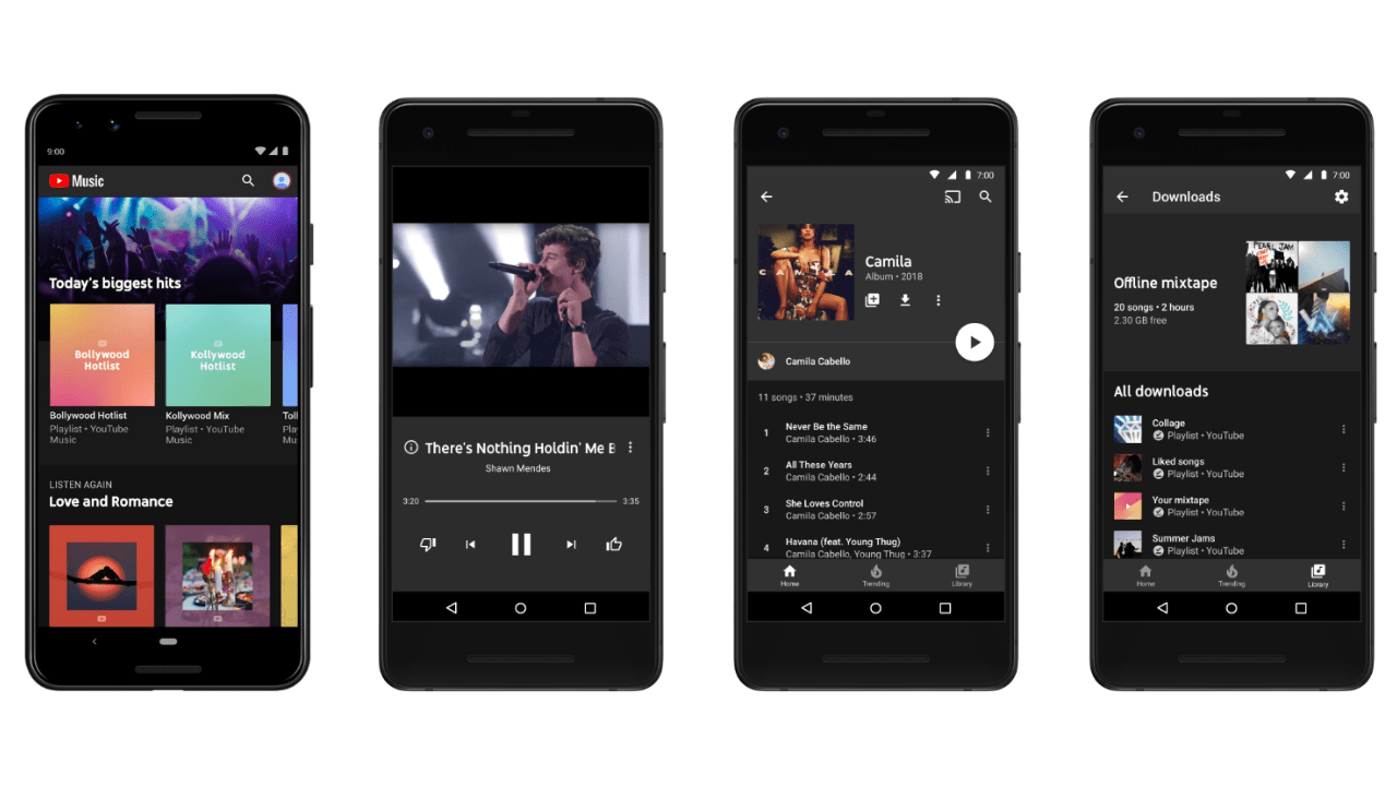 YouTube launches music streaming services in India