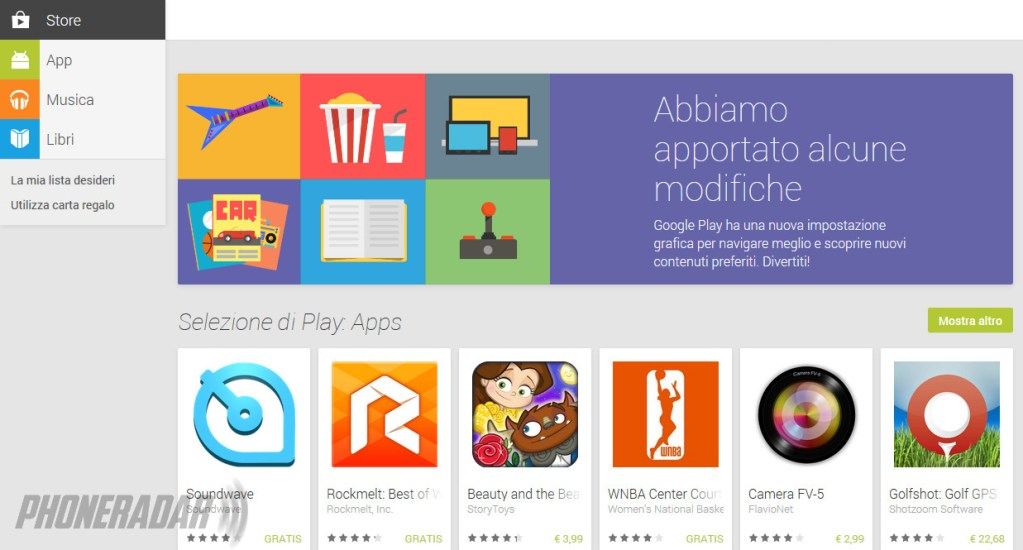 Google Play si rifà il look, così come promesso all'I/O 2013