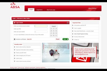 Absa Online Banking South Africa