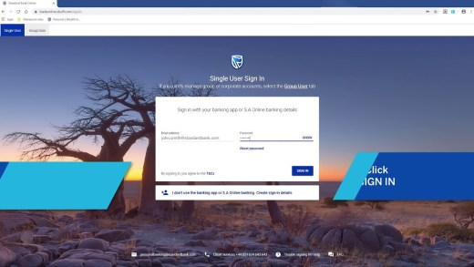 Standard Bank Online Banking