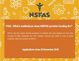 NSFAS For Private Colleges
