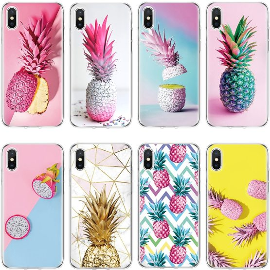 Pineapple Case For TPU Cover iPhone X 6 6s 7 8 Plus 8plus For iPhone Pineapple Case For TPU Cover iPhone X 6 6s 7 8 Plus 8plus For iPhone 4 5 5S SE 5C For iPhone 11 Pro XS Max XR Luxury Case Coque.