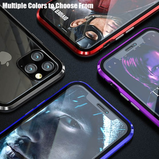 Magnetic Adsorption Metal Phone Case For iPhone 11 Pro X XS MAX XR Magnetic Adsorption Metal Phone Case For iPhone 11 Pro X XS MAX XR Double Sided Glass Magnet Cover For iPhone 6 6s 8 7 Plus Case.