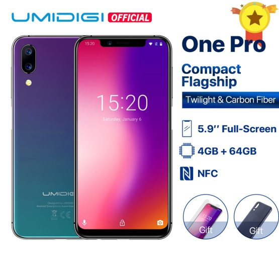 "UMIDIGI One Pro Global Band 5.9"" Android 8.1 wireless charge 4GB 64GB Octa Core smartphone Dual 4G NFC Ship from Latvia"