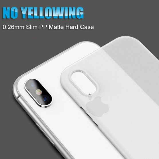 0.26mm Ultra Thin Phone Case For Iphone Xr Xs Max X 8 7 6 6s Plus Matte 0.26mm Ultra Thin Phone Case For Iphone Xr Xs Max X 8 7 6 6s Plus Matte Transparent Hard Case For Iphone 11 Pro Max Back Cover.