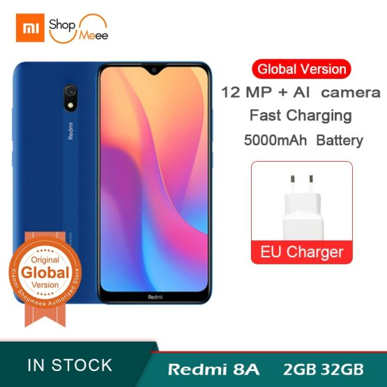 "Global Version Xiaomi Redmi 8A 2GB RAM 32GB ROM Snapdragon 439 Octa Core 6.22"" 5000mAh 12MP Camera Smartphone"