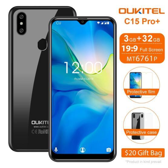 "OUKITEL C15 Pro+ 6.088"" WaterDrop Mobile Phone C15 Pro + Android 9.0 Cellphone 3GB 32GB MT6761 4G Quad Core Smartphone 3200mAh"