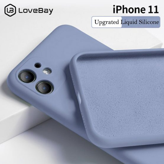 Lovebay Candy Color Phone Case For iPhone 11 11 Pro Max Liquid Silicone Solid Plain For iPhone 11 Case Soft TPU Back Cover Shell