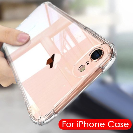 Soft Transparent Silicone Case for iPhone 7 8 6 6S Plus 7 Plus 8 Plus XS Max XR 11 Shockproof Clear TPU Case Cover iPhone 7 Case