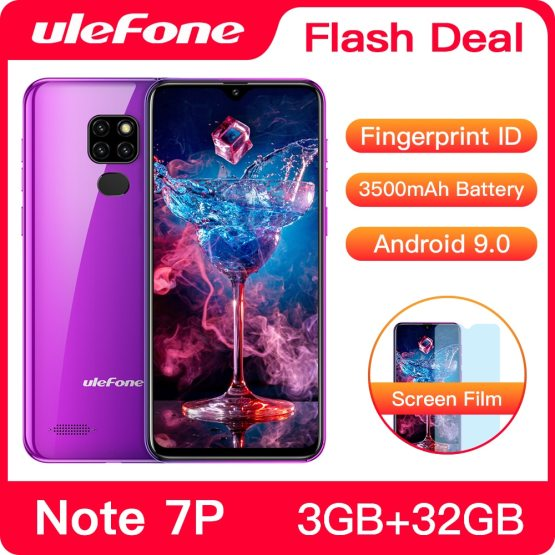 Ulefone Note 7P Smartphone Android 9.0 Quad Core 3500mAh 6.1 inch Triple Camera Ulefone Note 7P Smartphone Android 9.0 Quad Core 3500mAh 6.1 inch Triple Camera 3GB+32GB 4G Cell Phone Mobile Phone Android.