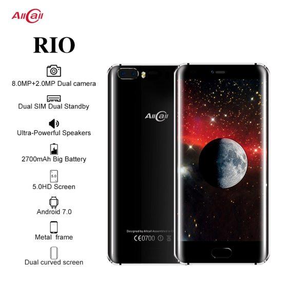 Original Allcall Rio 5.0 Inch IPS Rear Cams Android 7.0 Smartphone Original Allcall Rio 5.0 Inch IPS Rear Cams Android 7.0 Smartphone MTK6580A Quad Core 1GB RAM 16GB ROM 8.0MP OTG 3G Mobile Phone.
