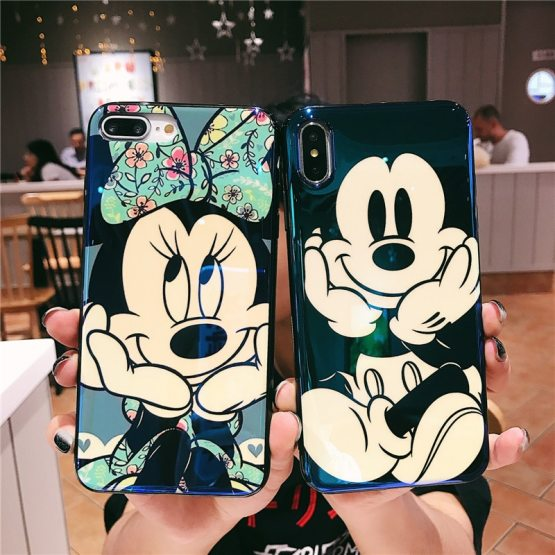 Fashion Blue Ray for iPhone 11 Pro Case Cute Cartoon Minnie Soft Silicone Fashion Blue Ray for iPhone 11 Pro Case Cute Cartoon Minnie Soft Silicone Funda for iPhone 7 8 6 S Plus X XR Xs Max Case.