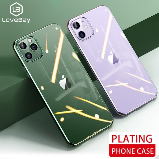 Lovebay For iPhone 11 Pro X XS XR Max Electroplated Phone Case Ultra Thin Plating Cases Soft Back Cover For iPhone 6 6s 7 8 Plus