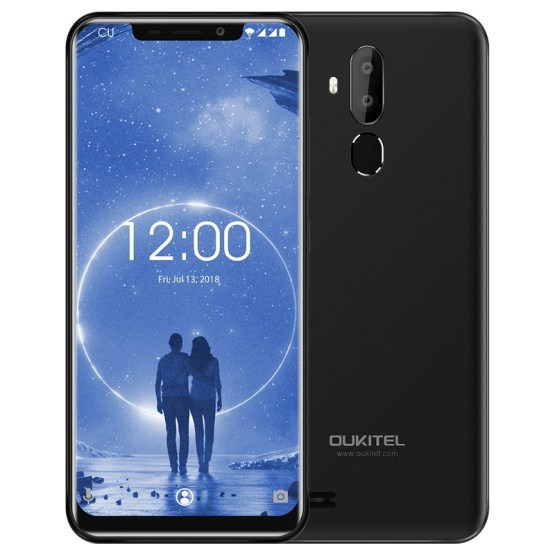 OUKITEL C12 3G Mobile Phone 6.18 inch Android 8.1 MT6580 Quad Core 1.3GHz 2GB+16GB 8MP+2.0MP Camera Fingerprint Smartphone