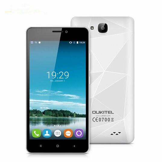 New OUKITEL C3 Android 6.0 3G WCDMA Smartphone 5.0 inch RAM 1GB ROM 8GB Dual SIM MTK6580 Quad Core 1.3GHz Cell Phone GPS WIFI