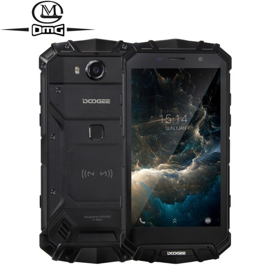 "Doogee S60 Lite NFC IP68 shockproof mobile phone 5580mAh 12V/2A Wireless Charge 4G Rugged Smartphone 5.2"" 4GB 32GB fingerprint"