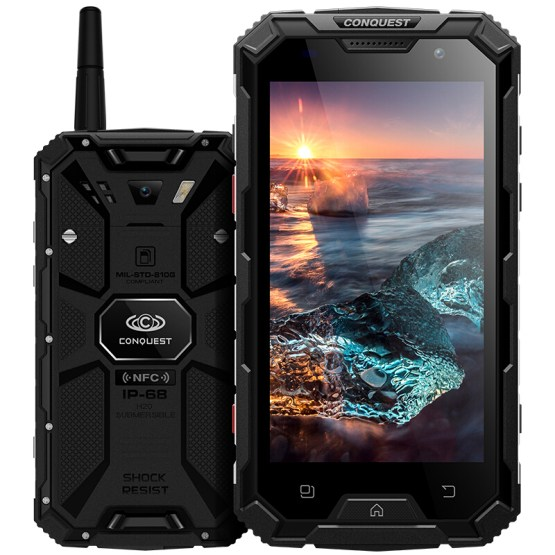 Conquest S8 Smartphone IP68 Waterproof shockproof 3GB RAM 32GB ROM MTK6735 Quad-core Android 5.1 6000mah battery mobile phone
