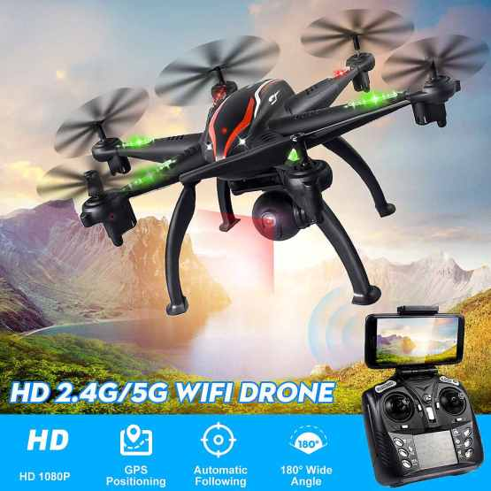 5G WiFi Drone Aerial Photography RC Camera Drone GPS 5G WiFi 1080P Camera Smart Follow Mode 6 Axis Gyro Quadcopter Professional
