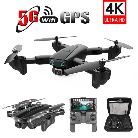 S167 Foldable Drone GPS with Camera 4K 5G WIFI FPV Drone Way-point Flying Remote Control Toy RC Quadcopter Helicopter Toys