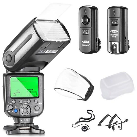 Neewer® NW565EX Professional I-TTL Slave Flash Speedlite Kit for Nikon DSLR Cameras- Includes: Neewer Auto-Focus Flash+2.4G