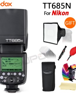Godox TT685N TT685 2.4G Wireless HSS 1/8000s i-TTL Camera Flash Speedlite +15*17 cm softbox+ Color filter for Nikon DSLR Cameras