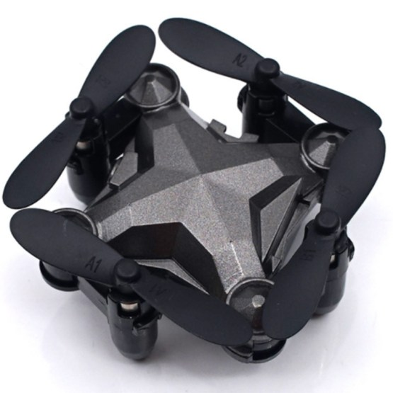 Luggage Aircraft Travel Case Four-Axis Remote Control Intelligent WIFI Mini Folding Gravity Induction Drone