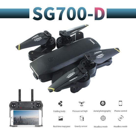SG700-D profissional camera drone 720p/1080p 4k HD WiFi FPV Brush motor propeller Long Battery air RC dron Quadcopter