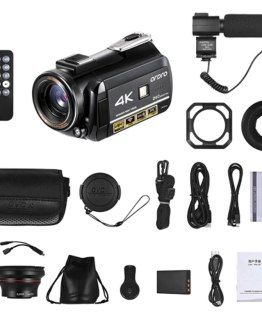 ORDRO AC3 4K WiFi Digital Video Camera Camcorder DV Recorder 24MP 30X Zoom IR Night Vision 3.1 Inch IPS LCD Touchscreen with 2Pc