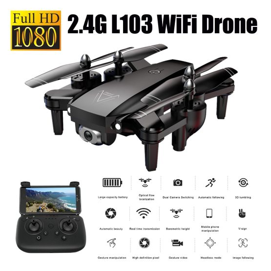 1080P RC Helicopters Camera Drone Wifi Drone with Camera Rc Helicopter with Camera 2.4G Optical Flow Position Drone Camera