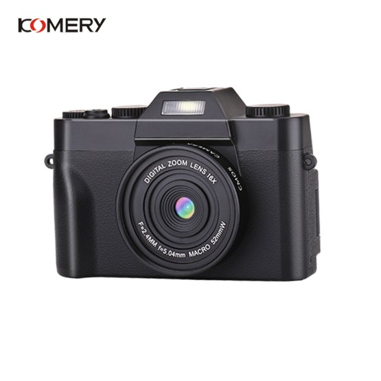 Professional Digital Camera 3.0 Inch LCD Flip Screen Video Camera KOMERY Professional Digital Camera 3.0 Inch LCD Flip Screen Video Camera 16X Digital Zoom HD Output Help WiFi Selfie Cam