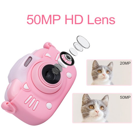 Minibear Kids Camera 3 inch Touch Screen Children Digital Camera Gift For Kids Boys Girls 4K HD Video Camcorder Camera Toy Gift
