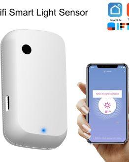 Tuya Smart Home 180 ° WIFI Illuminance Sensor Smart WiFi Brightness Sensor Smart Life powered by USB Light Sensor