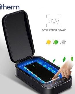 UV Disinfection Box Sanitizer Charger Prevent Flu For Mobile Phone Headphones Mask Sterilizer Kill 99.9% Viruses