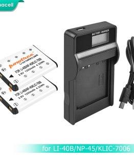 Bonacell NP-45,NP-45A NP-45S NP45,NP45A LI40B Battery+LCD Charger for Fujifilm FinePix Z30,Z10fd,Z250fd,Z110,Z700EXR,J10 L50