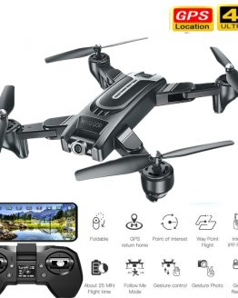 Professional Camera Drone 4K GPS Quadcopter WIFI FPV RC Drone With Live Video And Return Home Foldable Selfie RC Quadrocopter