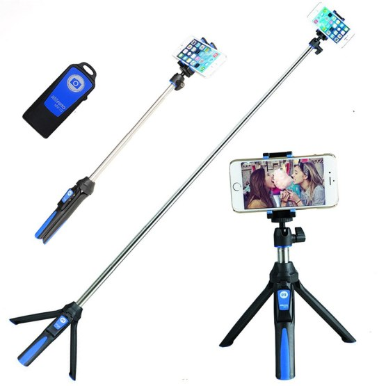 3in1 Bluetooth Tripod Benro MK10 Mefoto Smart Phone Selfie Stick Monopod Self-Portrait for iPhone XS Huawei Samsung Gopro Camera