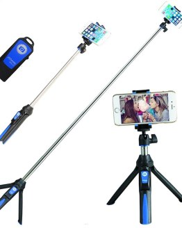 3in1 Bluetooth Tripod Benro MK10 Mefoto Smart Phone Selfie Stick Monopod Self-Portrait for iPhone XS Huawei Samsung Gopro Camera