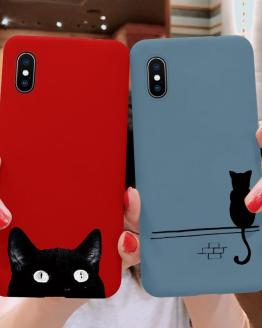 Cartoon Cat Soft TPU Case For iPhone XR 6S 8 7 6 S Plus Back Coque For iPhone X For iPhone 11 Pro XS Max Phone Case Capa Silicon