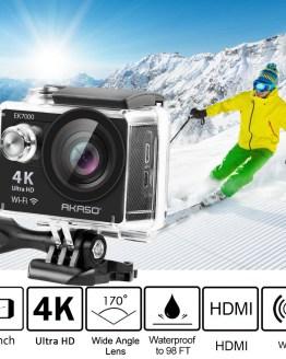 AKASO 4K Action Camera EK7000 WIFI Outdoor Video Extreme Sports hemet Ultra HD Waterproof 12MP Diving cam underwater